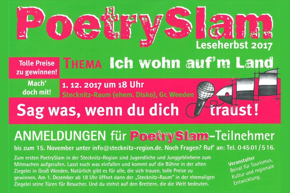 Lese-Herbst In Der Stecknitz-Region Erfolgreich, Dennoch Muss PoetrySlam Am 01.12.2017 Ausfallen