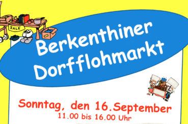 Berkenthiner Flohmarkt Am Sonntag, 16.09.2018