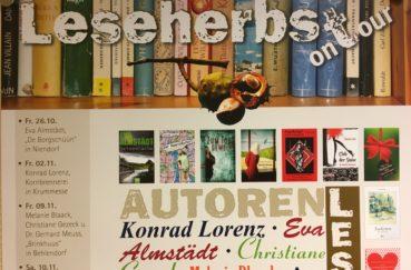 Leseherbst Geht Am Kommenden Freitag, 09.11. Weiter – Spannung Pur Mit Krimi-Autoren