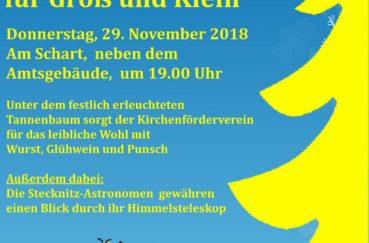 Weihnachtssingen Für Groß Und Klein Am 29.11.2018 In Berkenthin Am Amtsgebäude