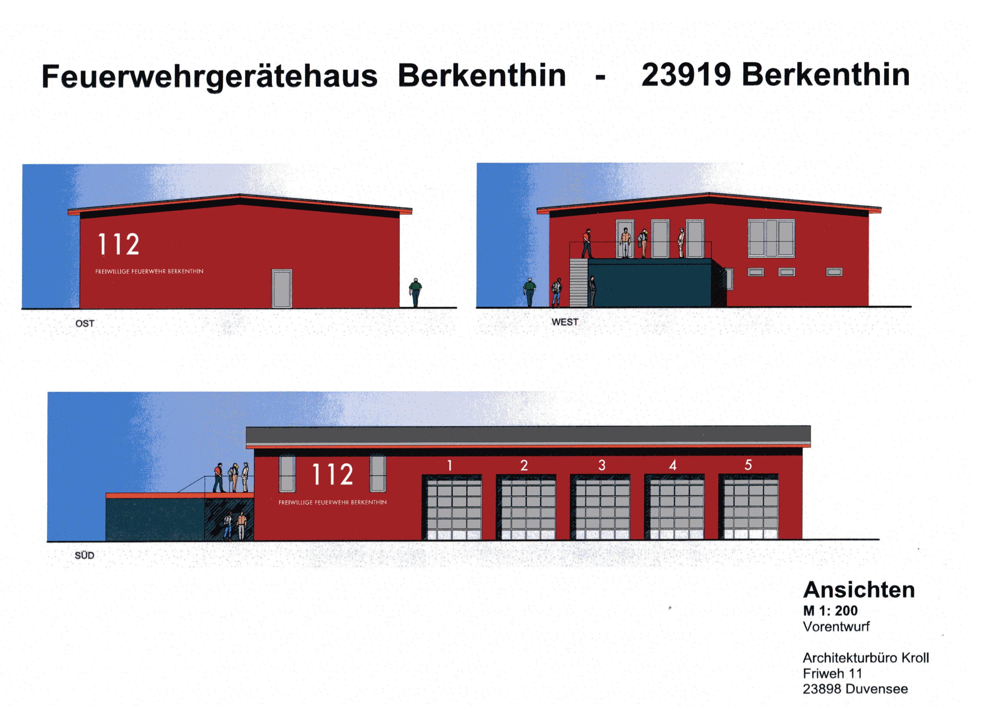 Gemeindevertretung beschließt Bau eines neuen Feuerwehrhauses im Gewerbegebiet