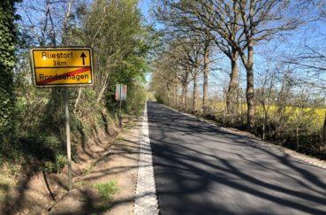 Verbindungsstraße Zwischen Den Gemeinden Bliestorf Und Rondeshagen Wieder Eröffnet