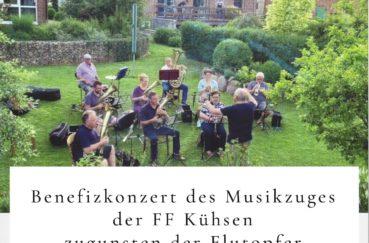 Benefizkonzert Des Musikzuges Der FF Kühsen Zugunsten Der Flutopfer Am 08.08.
