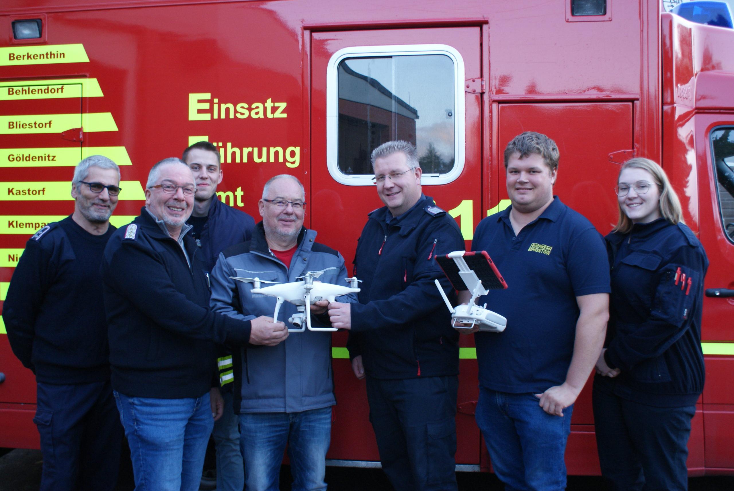 Feuerwehr Berkenthin Stellt Drohne In Betrieb